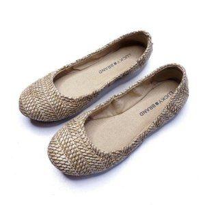 Lucky Brand Emmie Ballet Flats Tan Natural Size 6